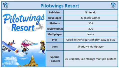 Kaset 3ds Pilotwings Resort pilotwings resort nintendo 3ds review