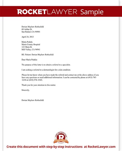 Insurance Referral Letter Template Letter To Request A Referral To Another Doctor Template With Sle