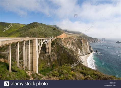 Pch Big Sur - bixby bridge highway one pacific coast highway big sur california stock photo royalty