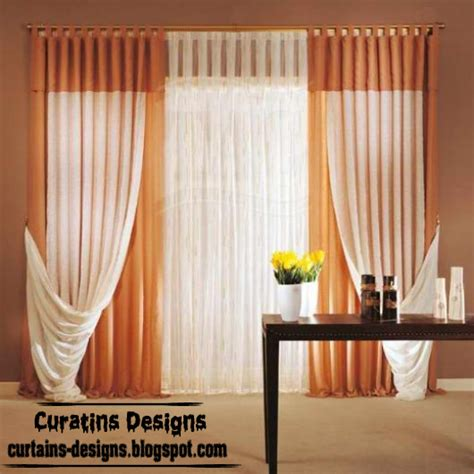 modern curtain styles modern orange tab curtain design french curtain