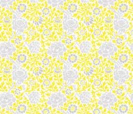 gray and yellow retro floral damask fabric sweetzoeshop