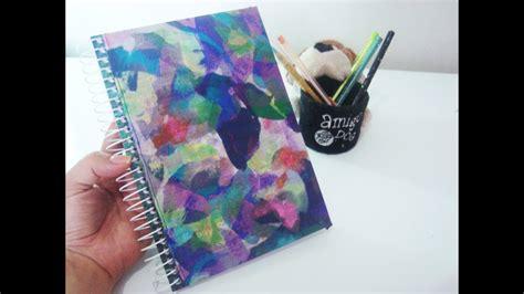 como decorar notebook papel contact tutorial encapando caderno tecido diy youtube