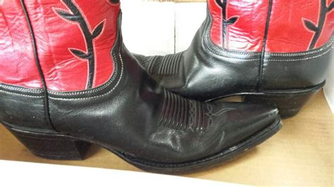 Lucchese Classics Handmade - vintage lucchese classics handmade cowboy boots black