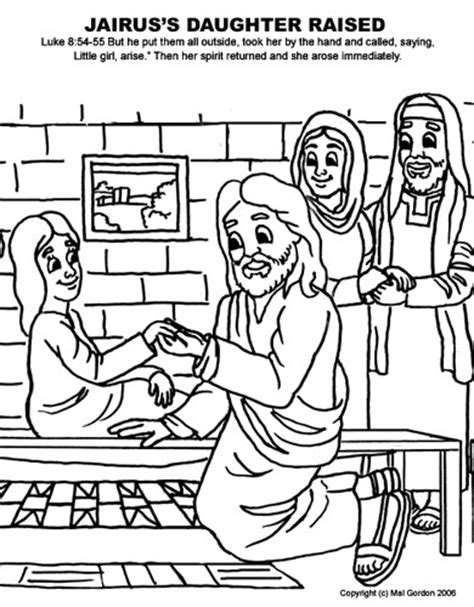 coloring page jesus heals jairus daughter jesus heals jairus daughter coloring page sketch coloring page