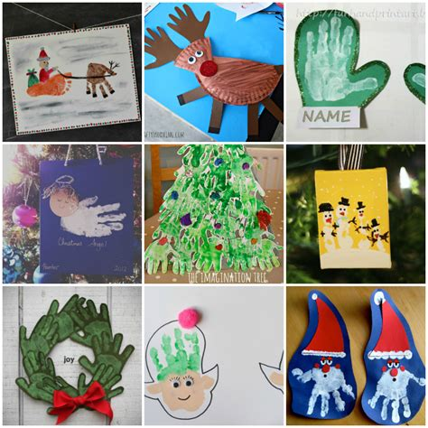 21 handprint and footprint christmas crafts i heart arts