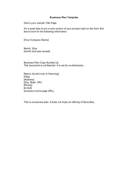 business plan format slideshare startup business plan template 1