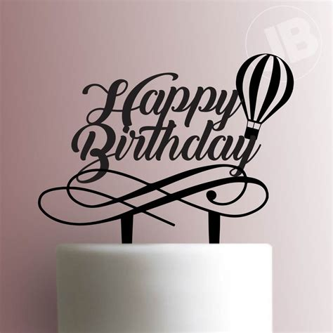 Topper Happy Birthday J air balloon happy birthday cake topper 100