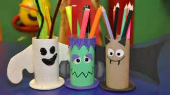 Craft Items From Waste Material For Kids - spooky pencil holder cbeebies bbc