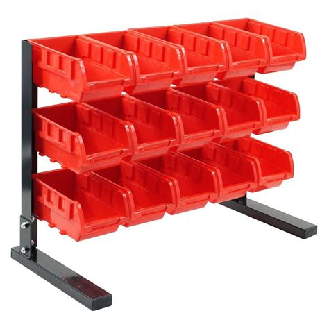 bench parts stalwart 15 compartment stackable bench top parts rack 75