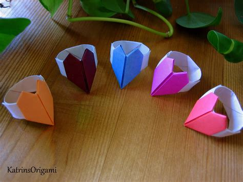 How To Make Paper Ring - origami ring