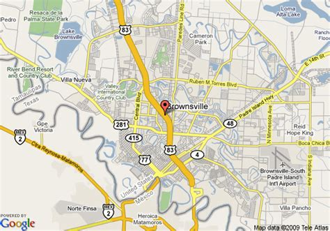 where is brownsville texas on the map map of garden inn brownsville