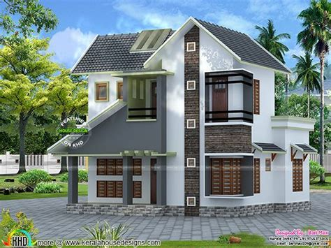 low cost home slope roof low cost home design kerala home design and