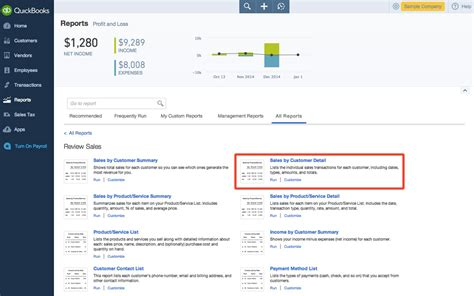 Sales Report In Quickbooks by Quickbooks Reports For Tracking Sales And Income Blackrock