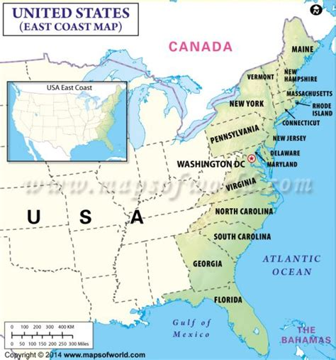 map east coast usa buy map of east coast usa