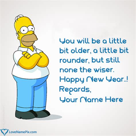 funny happy  year message