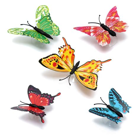 your supermart 12pcs 3d butterfly 12pcs diy stylish 3d butterfly wall sucker decals home