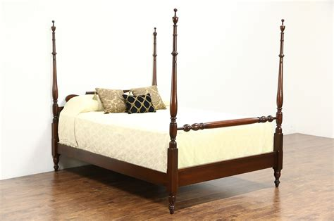 sold cherry traditional queen size  poster vintage bed