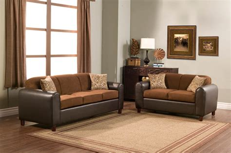 fiber sofa set 2 piece micro fiber and faux leather sofa set