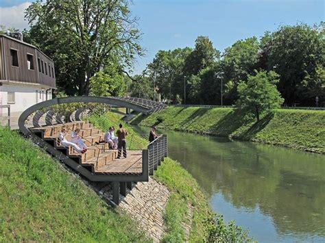 Pavilion On The Riverbank Of Ljubljanica River Landscape River Landscaping