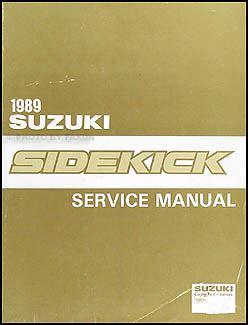 free car repair manuals 1995 suzuki sidekick on board diagnostic system 1989 suzuki sidekick repair shop manual original
