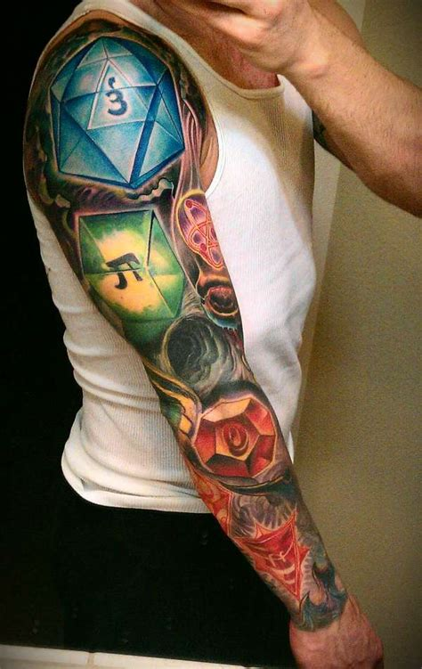 multi themed sleeve tattoo