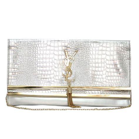 Ysl Silver Pouch By Arali Shop ysl evening clutch bag