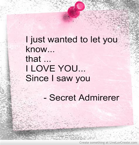 secret ideas for him secret admirer quotes for quotesgram