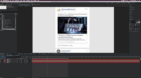 tutorial after effects bumper create and animate the facebook ui in adobe after effects