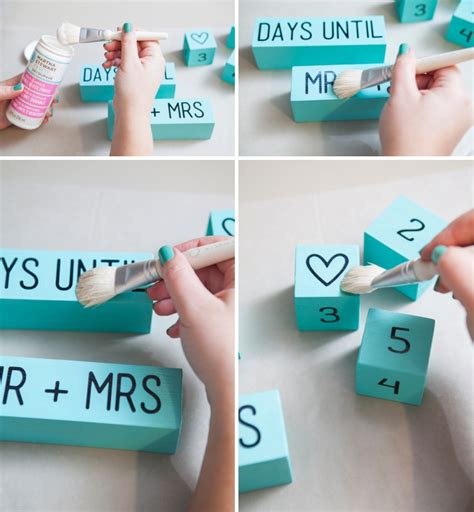 diy mean learn how to make your own wedding countdown blocks