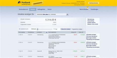 postbank onlin bank ppstbank banking musterdepot er 246 ffnen