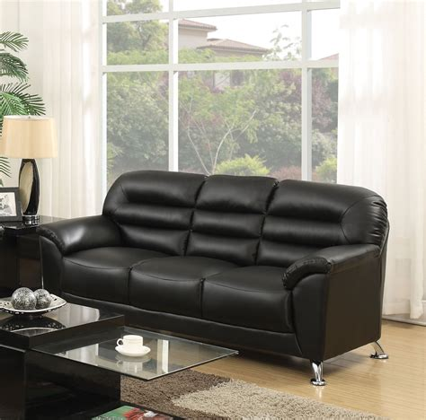 Pu Leather Sofa Sibba Black Pu Leather Sofa