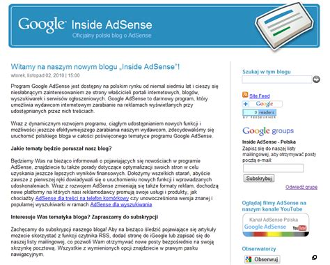 adsense group inside adsense announcing the new inside adsense poland
