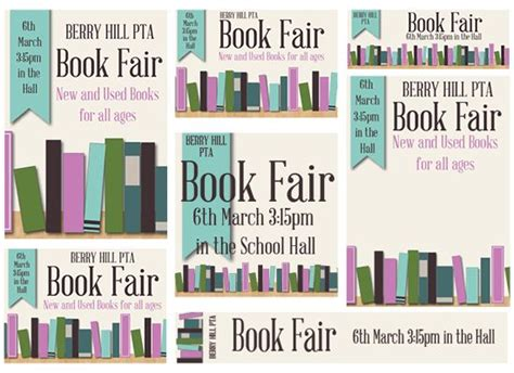 scholastic book fair flyer template book fair published pta templates and poster kits pta
