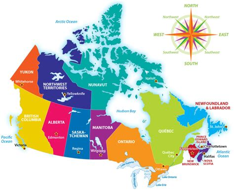 map of canada map of canada with cities and lakes www pixshark