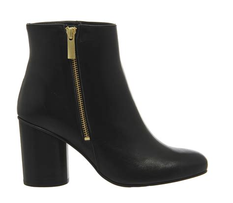 Boots Scrub Your Nose In It Twominute T Zone Detox Scrub by Office Indulgence Side Zip Cylindrical Heel Boot Black