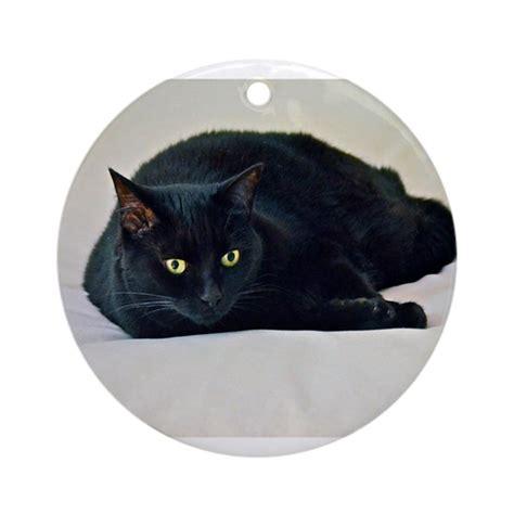 Cat Cp Lidya Black black cat ornament by harmonimages