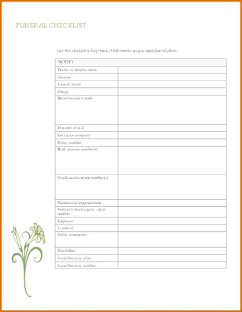 Permission Letter Attend Funeral 11 Free Funeral Program Templates Authorizationletters Org