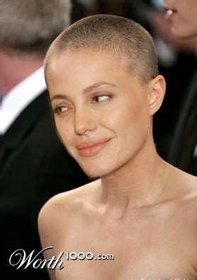 angelina jolie bald beauties pinterest angelina jolie  brad pitt
