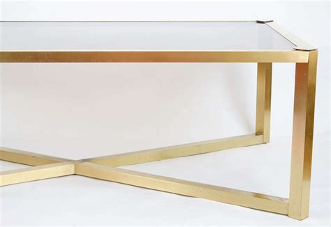 brass coffee table 1950s italian brass coffee table at 1stdibs