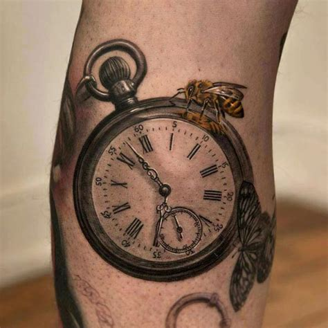 tattoo of us watch 34 superb pocket watch tattoo designs tattooblend