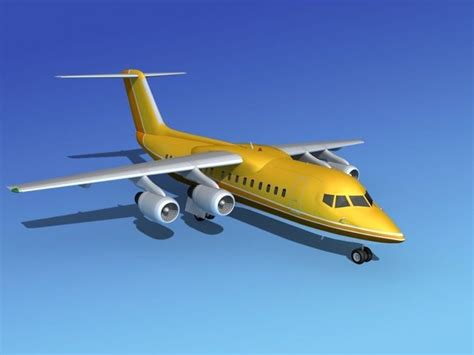model commercial jets bae 146 200 bae aircraft 3d model rigged max obj 3ds lwo