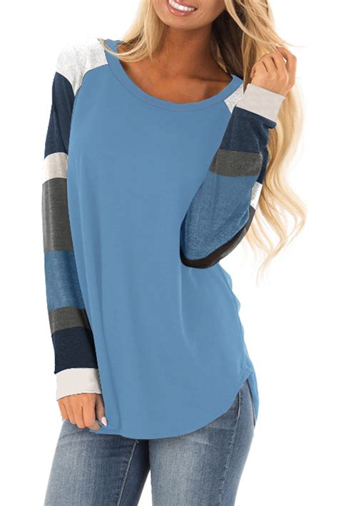 color block tops dropship tops tees us 7 02color block sleeves