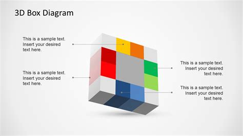 powerpoint layout with 4 pictures creative 3d box diagram template for powerpoint slidemodel