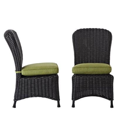Martha Stewart Dining Chairs Martha Stewart Living Lake Adela Charcoal Patio Dining Chair With Cilantro Cushion 2 Pack