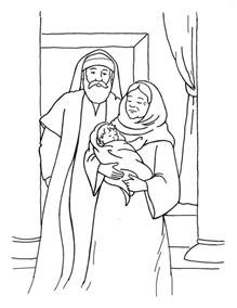coloring pages zechariah and elizabeth free christian coloring pages for and children
