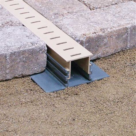 Paver Patio Drainage Paver Drain Travertine Supply