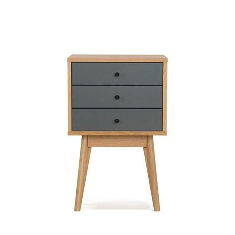 table de chevet scandinave skoll 3 tiroirs by drawer