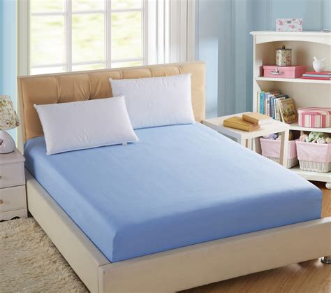 Fitted Sheets For Bunk Beds 100 Cotton Solid Fitted Bed Sheet Elastic Mattress Cover Cushion Protective Bedspread Bed