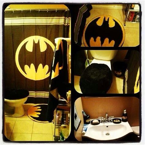 Batman Bathroom Future Home Sweet Home Pinterest Batman Bathroom Accessories