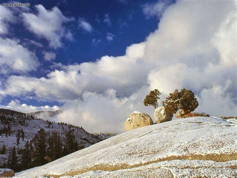 nature spring snow yosemite california picture nr